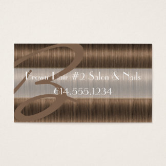 Darker Brown Hair Salon Stylist Business Cards