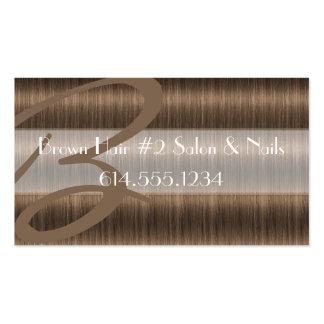 Darker Brown Hair Salon Stylist Business Cards