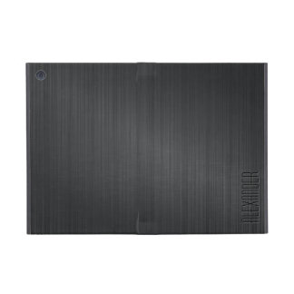Darker  Gray Metallic Look Brushed Aluminum Cover For iPad Mini