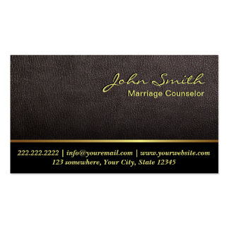Darker Leather Marriage Counseling Business Card