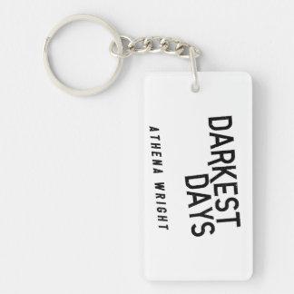 Darkest Days by Athena Wright Rectangle Keychain