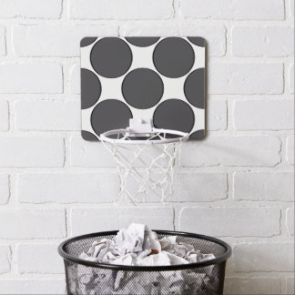 DarkGrey Dot Mini Basketball Hoop