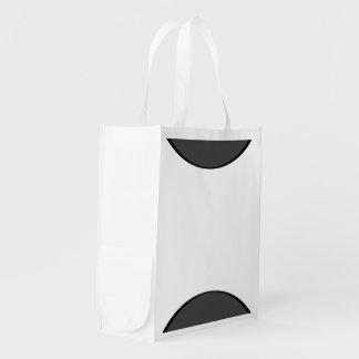 DarkGrey Dot Reusable Grocery Bag