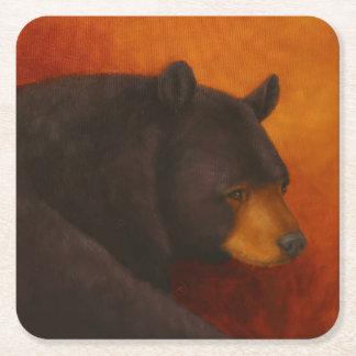 Darkly Dreaming Black Bear Coasters