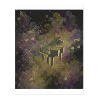 Darknes singing with piano!!! postcard