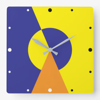 Darkness and light. square wall clock