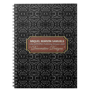 Darkness Decorative Black Modern Notebook