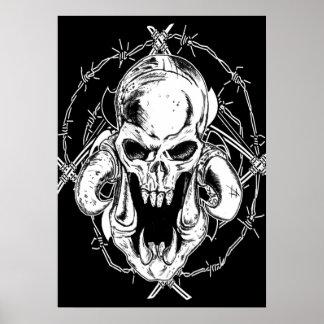 Darkness Skull Poster