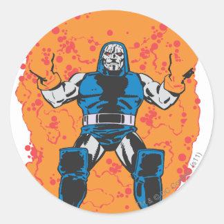 Darkseid Destruction Round Sticker