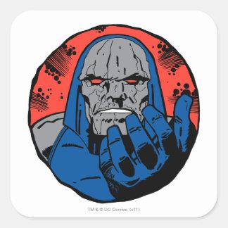 Darkseid  Head Shot 2 Square Stickers