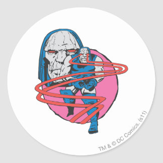 Darkseid Shoots Omega Beams Round Sticker