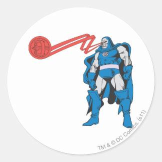 Darkseid Uses Psionic Powers Round Sticker