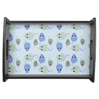 Darlene's Blue and Brown Mouses Serving Tray