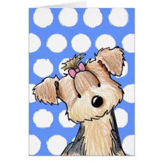 Darlin' May Yorkie Terrier Card
