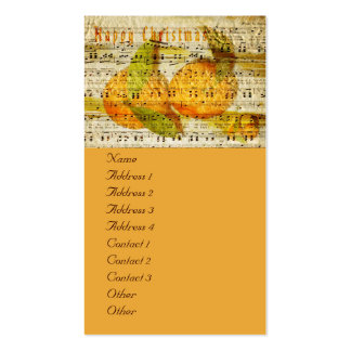 Darling Clementines for Christmas Business Card