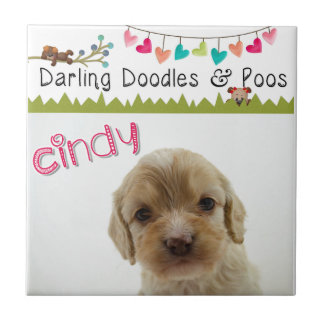 Darling Doodles & Poos Products Ceramic Tiles