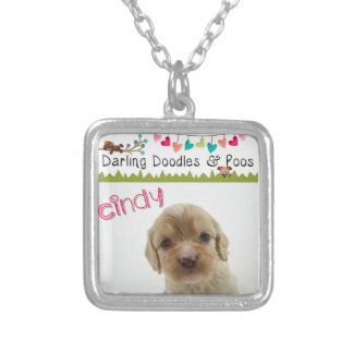 Darling Doodles & Poos Products Silver Plated Necklace