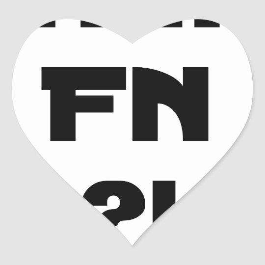 Darling FN?! - Word games - François City Heart Sticker