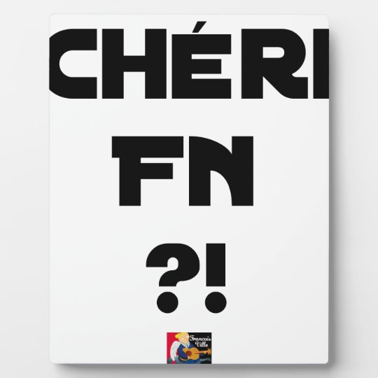 Darling FN?! - Word games - François City Plaque