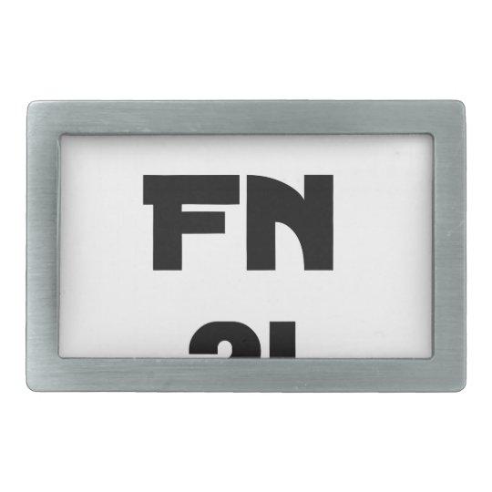 Darling FN?! - Word games - François City Rectangular Belt Buckles