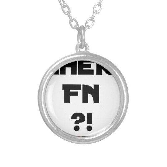 Darling FN?! - Word games - François City Silver Plated Necklace
