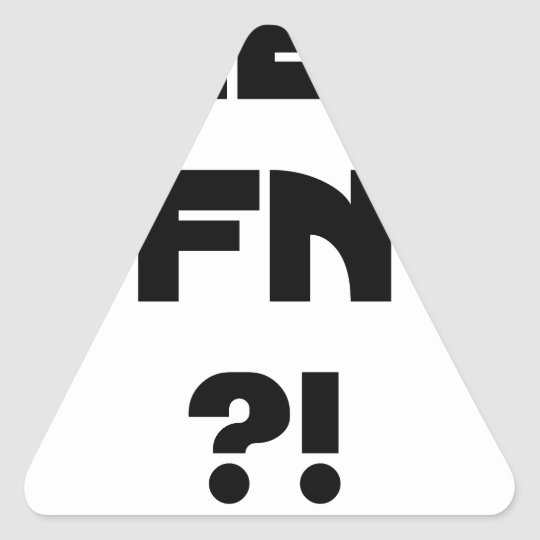 Darling FN?! - Word games - François City Triangle Sticker