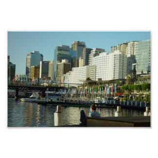 Darling Harbour In Sydney At New South Wales Poster