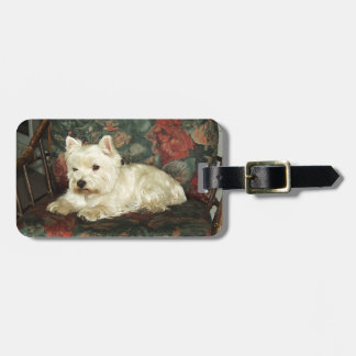 Darling Resting West Highland Terrier Luggage Tag