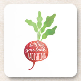 Darling, You Look Radishing | food pun Coaster