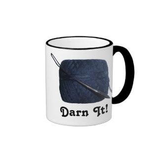 """""""Darn It!"""" Darning Needle & Thread Mug"""
