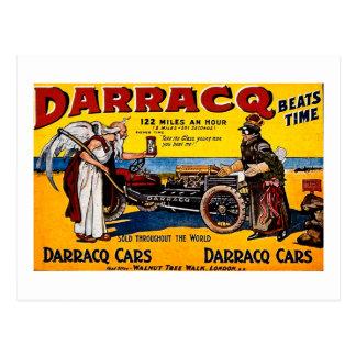 Darracq - Vintage Auto Advertisement Postcard