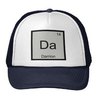 Darrion Name Chemistry Element Periodic Table Trucker Hats