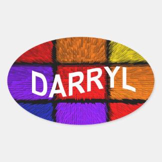 DARRYL OVAL STICKER