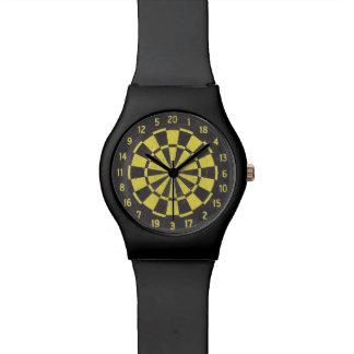 Dart Board (Black/Yellow) Wristwatch