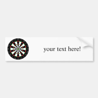 Dart Board Bumper Sticker