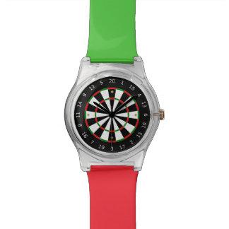 Dart Board Colorful Custom Watch