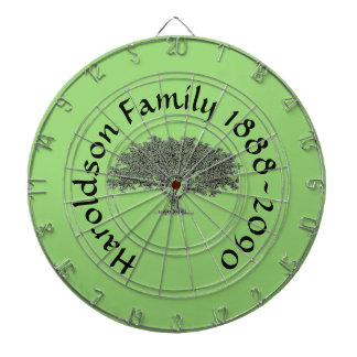 Dart Board - Family Tree with Name and Dates