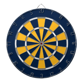 Dart Board in Buffalo Hockey Colors