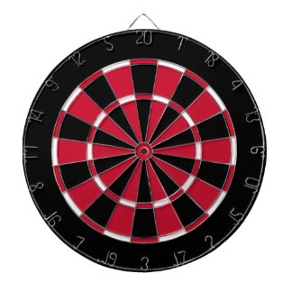 Dart Board in Chicago Hockey Colors