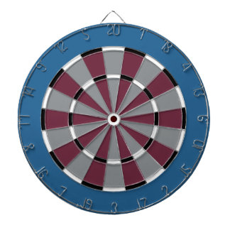 Dart Board in Colorado Hockey Colors
