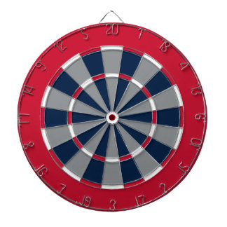 Dart Board in Columbus Hockey Colors