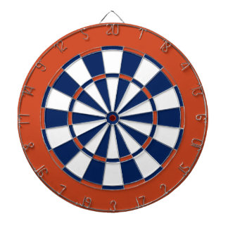 Dart Board in Edmonton Hockey Colors
