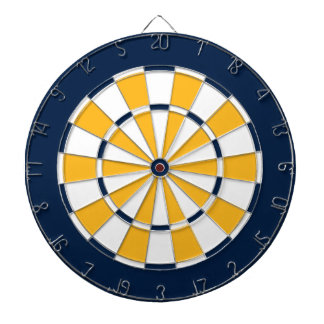 Dart Board in Nashville Hockey Colors
