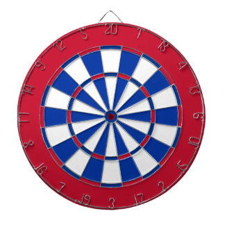 Dart Board in New York Hockey Colors