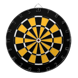Dart Board in Pittsburgh Hockey Colors