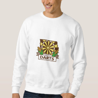 Dart Board Iowa State Map Corn Retro Sweatshirt