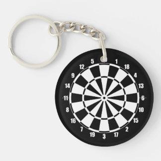 Dart Board Keychain