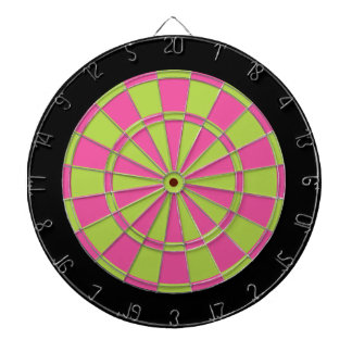 Dart Board: Lime Green, Pink, And Black Dartboard