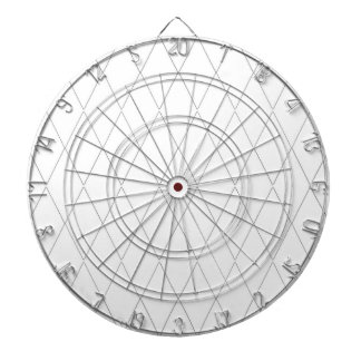Dart-Board-Modern-Diamond-White(c)Swiss White Dartboard