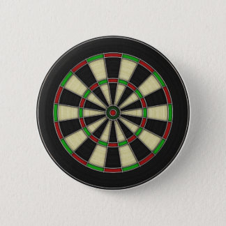 Dart Board Pattern. Stylish, Perfect Hobbies Gift. 2 Inch Round Button